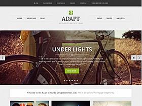 WordPress英文主题:Adapt响应式博客瀑布流主题分享