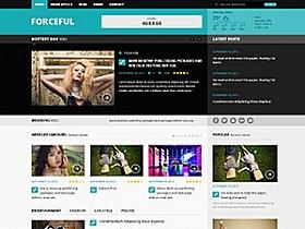 WordPress CMS视网膜杂志Forceful响应式主题汉化版分享