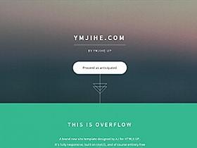 HTML模板:自适应单页向下滑动模板免费分享