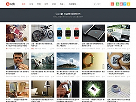 WordPress tob主题0.5最新原版,自适应博客,图片,视频主题
