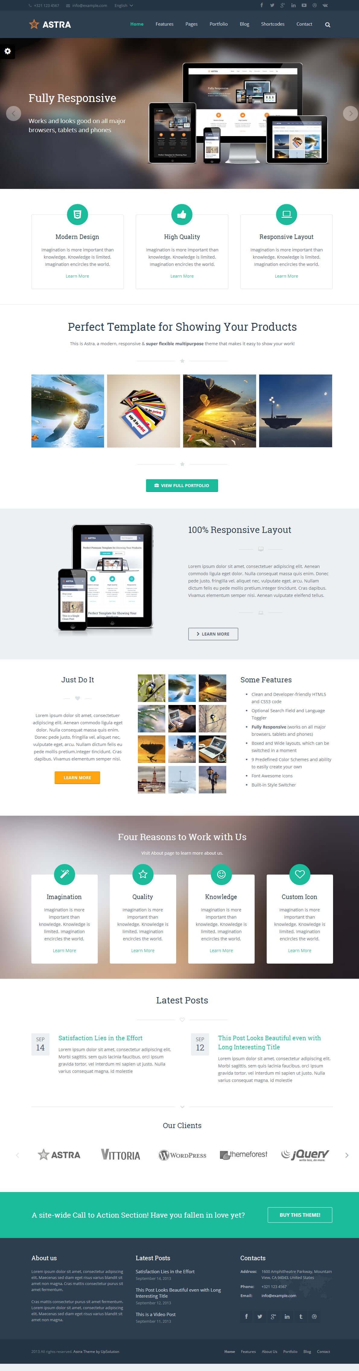 WordPress英文企业响应式主题Astra1.4版本分享