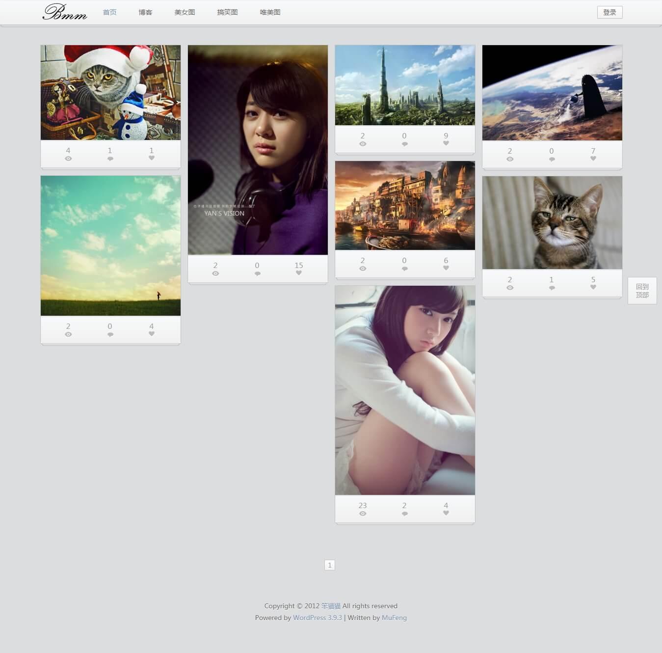 iPhoto 4.0.1经典瀑布流WordPress主题分享