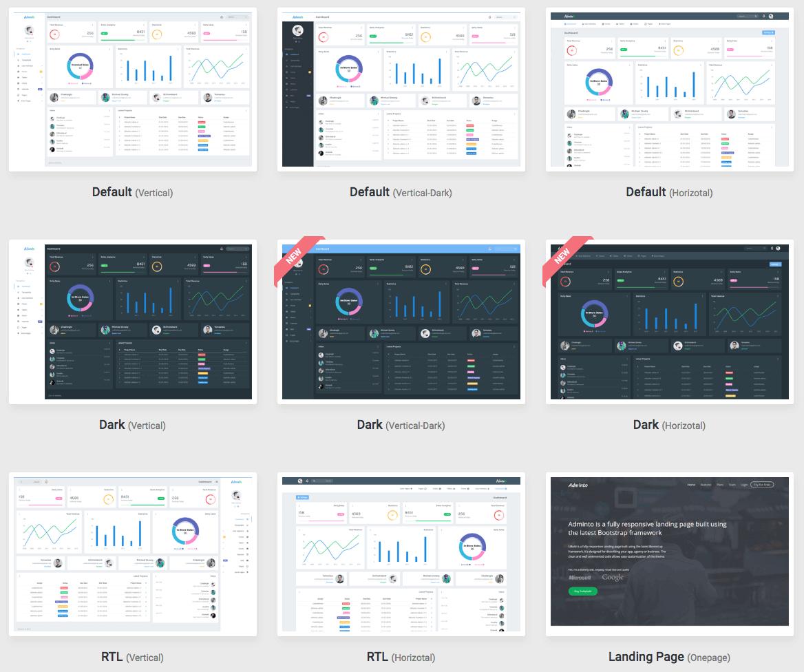 HTML5响应式Adminto2.0后台管理员仪表盘模板